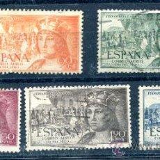 Briefmarken - Edifil 1111/1115. Serie completa Fernando el Católico, correo aéreo. - 34174367