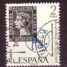 Sellos: ESPAÑA 2033 - AÑO 1971 - DÍA MUNDIAL DEL SELLO. Lote 34507840