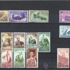 Sellos: ESPAÑA - 1960 - EDIFIL - 1254 / 69 NUEVOS ** FIESTA NACIONAL