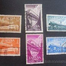 Briefmarken - ESPAÑA,1958,EDIFIL 1232-1237(O), XVII CONG.INTERN.FERROCARRILES,COMPLETA,USADOS - 35215064