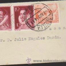 Sellos: CARTA DE SEVILLA A ARACENA DEL 6 ABRIL 1954.. Lote 35341570