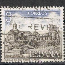 Sellos: 2268 3 PTA IGLESIA DE SAN PEDRO TARRASA / PAISAJES Y MONUMENTOS. Lote 35651138