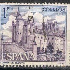 Sellos: 1546 1 PTA ALCÁZAR DE SEGOVIA / PAISAJES Y MONUMENTOS. Lote 35651231