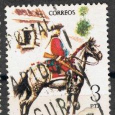 Sellos: 2238 3 PTAS REGIMIENTO DE LA REINA / UNIFORMES MILITARES. Lote 35662299