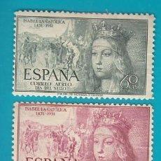 Sellos: ESPAÑA 1951 EDIFIL 1097, 1099 Y 1100 V CENTENARIO NACIMIENTO ISABEL, NUEVO/S CON FIJASELLOS. Lote 36245438