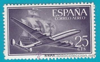 ESPAÑA 1955, EDIFIL 1170, SUPERCONSTELLATION Y NAO SANTA MARIA, NUEVO/S CON FIJASELLOS (Sellos - España - II Centenario De 1.950 a 1.975 - Nuevos)