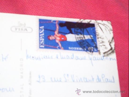 POSTAL BURGOS CIRCULADA SELLO CORREO GIMNASIA BLUME 3 PTAS (Sellos - España - II Centenario De 1.950 a 1.975 - Cartas)