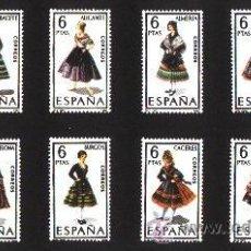 Sellos: ESPAÑA 1967 - TRAJES REGIONALES - EDIFIL Nº 1767-1778. Lote 36321189