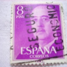 Sellos: EDIFIL 1162 GENERAL FRANCO 8 PESETAS 1955 USADO. Lote 36635456