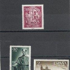Sellos: ESPAÑA 1953, EDIFIL Nº 1126/1128**, UNIVERSIDAD DE SALAMANCA. Lote 37331477