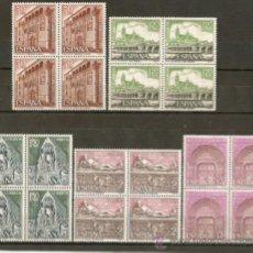 Sellos: ESPAÑA TURISMO EDIFIL NUM. 1875/1879 ** EN BLOQUE DE 4 SERIE COMPLETA SIN FIJASELLOS. Lote 37376042