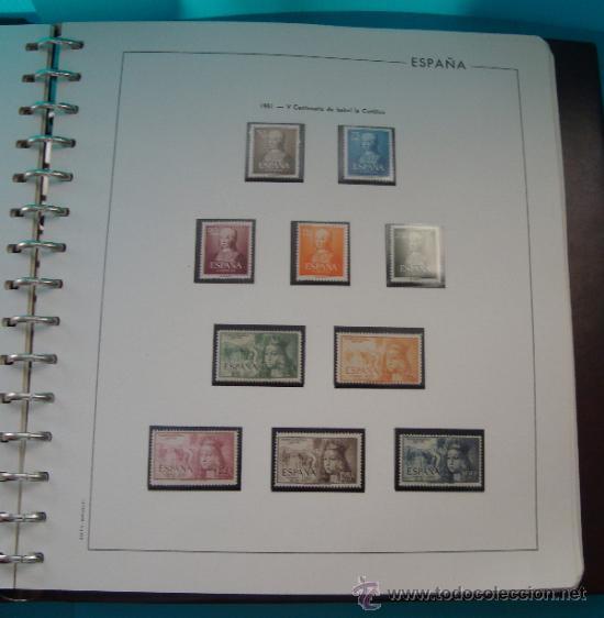Sellos: COLECCION SELLOS DE ESPAÑA 1950 A 1964 NUEVOS CON FIJASELLOS Y CIRCULADOS MONTADO EN ALBUM - Foto 6 - 37562848