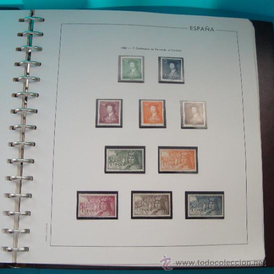 Sellos: COLECCION SELLOS DE ESPAÑA 1950 A 1964 NUEVOS CON FIJASELLOS Y CIRCULADOS MONTADO EN ALBUM - Foto 7 - 37562848
