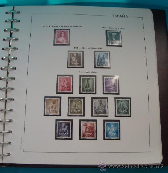 Sellos: COLECCION SELLOS DE ESPAÑA 1950 A 1964 NUEVOS CON FIJASELLOS Y CIRCULADOS MONTADO EN ALBUM - Foto 9 - 37562848