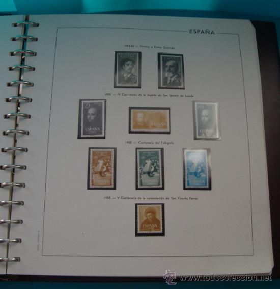 Sellos: COLECCION SELLOS DE ESPAÑA 1950 A 1964 NUEVOS CON FIJASELLOS Y CIRCULADOS MONTADO EN ALBUM - Foto 11 - 37562848