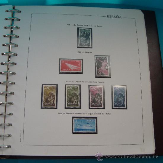 Sellos: COLECCION SELLOS DE ESPAÑA 1950 A 1964 NUEVOS CON FIJASELLOS Y CIRCULADOS MONTADO EN ALBUM - Foto 13 - 37562848