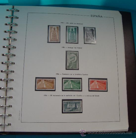 Sellos: COLECCION SELLOS DE ESPAÑA 1950 A 1964 NUEVOS CON FIJASELLOS Y CIRCULADOS MONTADO EN ALBUM - Foto 14 - 37562848