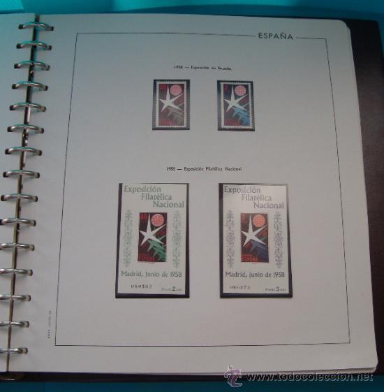 Sellos: COLECCION SELLOS DE ESPAÑA 1950 A 1964 NUEVOS CON FIJASELLOS Y CIRCULADOS MONTADO EN ALBUM - Foto 17 - 37562848