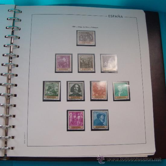 Sellos: COLECCION SELLOS DE ESPAÑA 1950 A 1964 NUEVOS CON FIJASELLOS Y CIRCULADOS MONTADO EN ALBUM - Foto 20 - 37562848