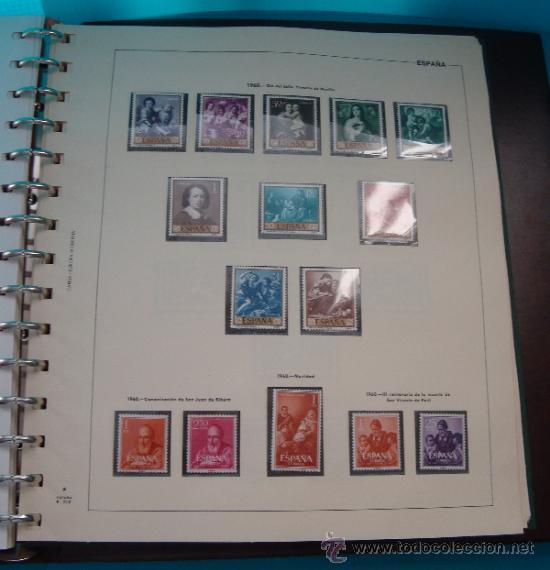 Sellos: COLECCION SELLOS DE ESPAÑA 1950 A 1964 NUEVOS CON FIJASELLOS Y CIRCULADOS MONTADO EN ALBUM - Foto 22 - 37562848