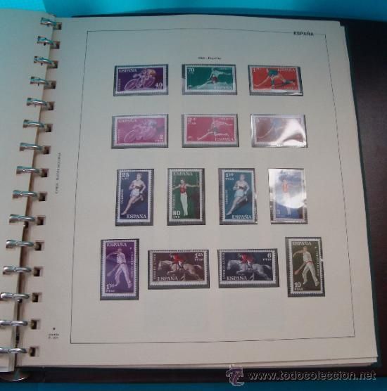 Sellos: COLECCION SELLOS DE ESPAÑA 1950 A 1964 NUEVOS CON FIJASELLOS Y CIRCULADOS MONTADO EN ALBUM - Foto 24 - 37562848