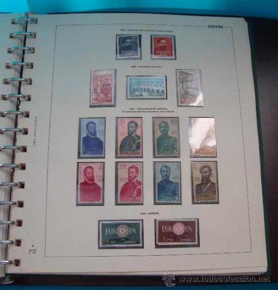 Sellos: COLECCION SELLOS DE ESPAÑA 1950 A 1964 NUEVOS CON FIJASELLOS Y CIRCULADOS MONTADO EN ALBUM - Foto 25 - 37562848