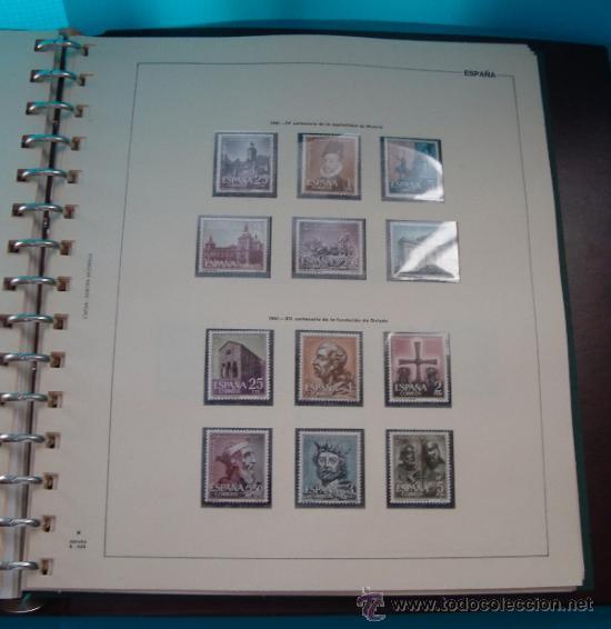 Sellos: COLECCION SELLOS DE ESPAÑA 1950 A 1964 NUEVOS CON FIJASELLOS Y CIRCULADOS MONTADO EN ALBUM - Foto 28 - 37562848