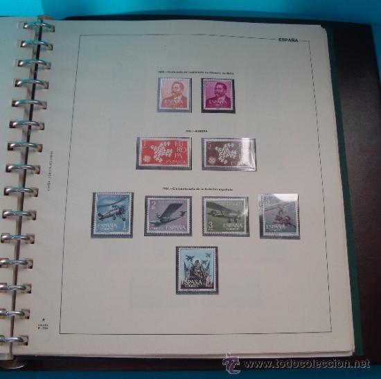 Sellos: COLECCION SELLOS DE ESPAÑA 1950 A 1964 NUEVOS CON FIJASELLOS Y CIRCULADOS MONTADO EN ALBUM - Foto 29 - 37562848