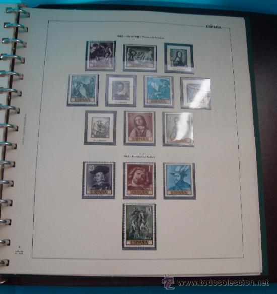 Sellos: COLECCION SELLOS DE ESPAÑA 1950 A 1964 NUEVOS CON FIJASELLOS Y CIRCULADOS MONTADO EN ALBUM - Foto 33 - 37562848