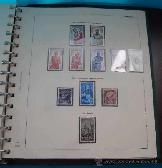 Sellos: COLECCION SELLOS DE ESPAÑA 1950 A 1964 NUEVOS CON FIJASELLOS Y CIRCULADOS MONTADO EN ALBUM - Foto 34 - 37562848