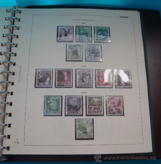 Sellos: COLECCION SELLOS DE ESPAÑA 1950 A 1964 NUEVOS CON FIJASELLOS Y CIRCULADOS MONTADO EN ALBUM - Foto 37 - 37562848