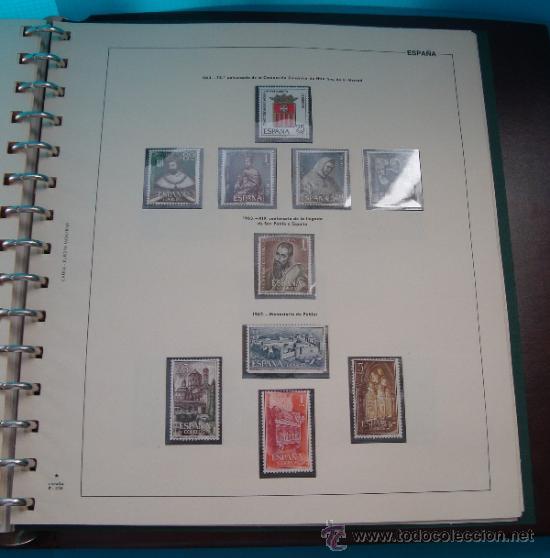 Sellos: COLECCION SELLOS DE ESPAÑA 1950 A 1964 NUEVOS CON FIJASELLOS Y CIRCULADOS MONTADO EN ALBUM - Foto 41 - 37562848