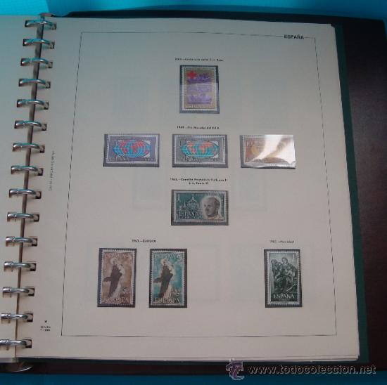Sellos: COLECCION SELLOS DE ESPAÑA 1950 A 1964 NUEVOS CON FIJASELLOS Y CIRCULADOS MONTADO EN ALBUM - Foto 42 - 37562848