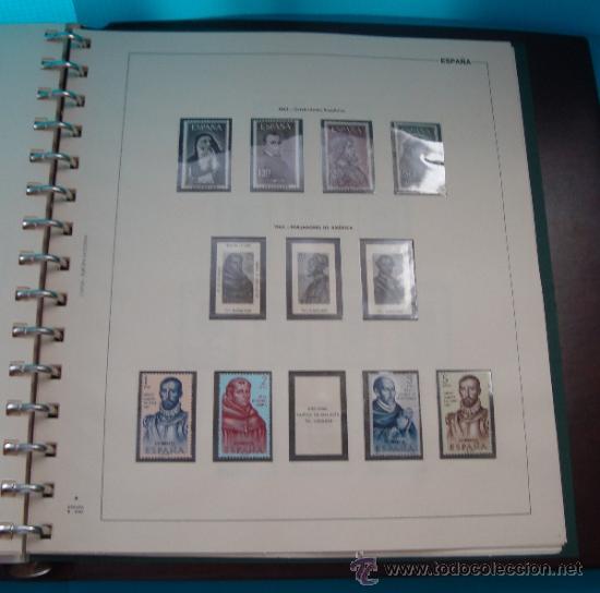 Sellos: COLECCION SELLOS DE ESPAÑA 1950 A 1964 NUEVOS CON FIJASELLOS Y CIRCULADOS MONTADO EN ALBUM - Foto 43 - 37562848