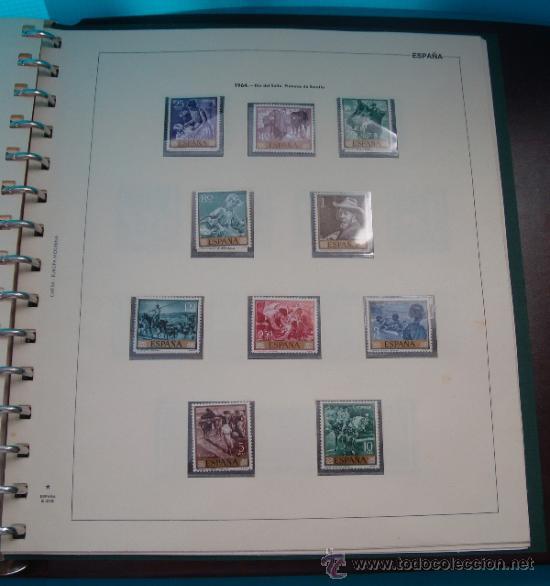 Sellos: COLECCION SELLOS DE ESPAÑA 1950 A 1964 NUEVOS CON FIJASELLOS Y CIRCULADOS MONTADO EN ALBUM - Foto 45 - 37562848