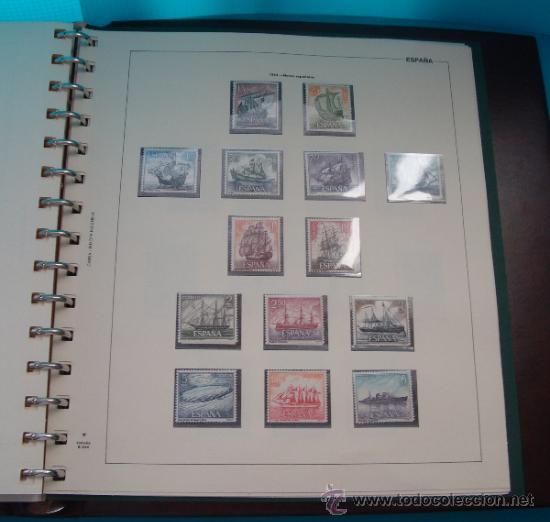 Sellos: COLECCION SELLOS DE ESPAÑA 1950 A 1964 NUEVOS CON FIJASELLOS Y CIRCULADOS MONTADO EN ALBUM - Foto 47 - 37562848