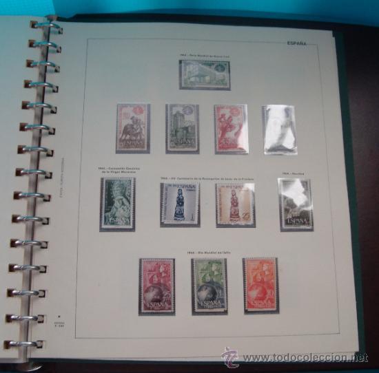 Sellos: COLECCION SELLOS DE ESPAÑA 1950 A 1964 NUEVOS CON FIJASELLOS Y CIRCULADOS MONTADO EN ALBUM - Foto 48 - 37562848