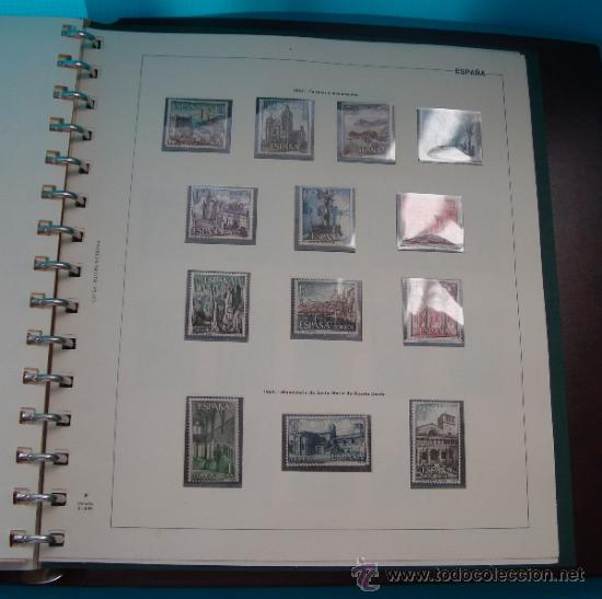 Sellos: COLECCION SELLOS DE ESPAÑA 1950 A 1964 NUEVOS CON FIJASELLOS Y CIRCULADOS MONTADO EN ALBUM - Foto 49 - 37562848