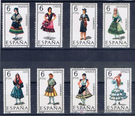 TRAJES REGIONALES ANDALUCIA NUEVOS** (Sellos - España - II Centenario De 1.950 a 1.975 - Nuevos)