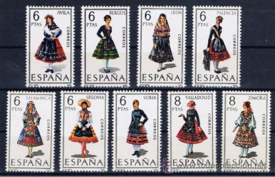 TRAJES REGIONALES CASTILLA NUEVOS** (Sellos - España - II Centenario De 1.950 a 1.975 - Nuevos)