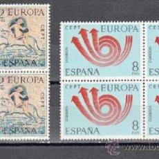 Sellos: ESPAÑA 1973 EUROPA ** SERIE COMPLETA BLOQUE 4 SELLOS SIN FIJASELLOS. Lote 237458735