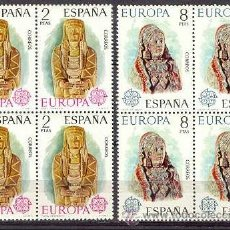 Sellos: ESPAÑA EUROPA EDIFIL NUM. 2177/2178 ** SERIE COMPLETA BLOQUE 4 SELLOS SIN FIJASELLOS. Lote 237458385