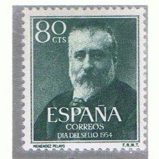 Sellos: MENENDEZ Y PELAYO 1954 EDIFIL 1142 NUEVO** VALOR 2013 CATALOGO 11.-- EUROS. Lote 38465649