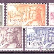 Sellos: ESPAÑA 1111/15 FERNANDO AER 1952. NUEVA CAT. 33,00.-. Lote 38698660