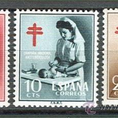 Sellos: ESPAÑA 1121/23 PRO TUBERCULOSOS 1953. NUEVA CAT. 15,75.-. Lote 38698711