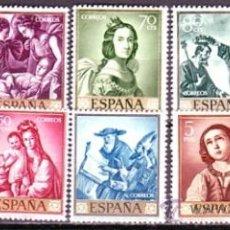 Sellos: ESPAÑA 1418 / 1427 ZURBARAN. NUEVA SIN FIJASELLOS. CAT. 15€.. Lote 38699302