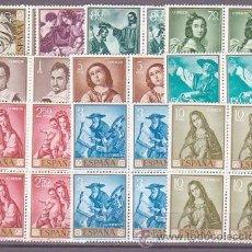 Sellos: ESPAÑA BLOQUE 1418/27 ZURBARAN. NUEVA CAT. 88,00.-. Lote 38699315