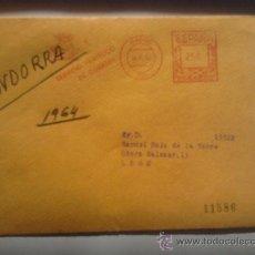 Sellos: CARTA DE MADRID 1964 SELLO POR DETRAS, AGUILA. Lote 38966541
