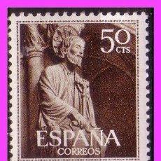 Sellos: 1954 AÑO SANTO COMPOSTELANO, EDIFIL Nº 1130 Y 1131 * * . Lote 39022980