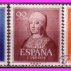 Sellos: 1951 V CENT. NACIMIENTO ISABEL LA CATÓLICA, EDIFIL Nº 1092 A 1096 * * . Lote 39023028